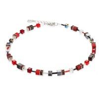 COEUR DE LION Geo Cube Red Necklace 4014/10-0312