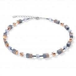 COEUR DE LION Haematite Rose Gold and Pale Blue Necklace 4015/10-0730