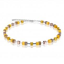 COEUR DE LION Geo Cube Vibrant Yellow Necklace 4016/10-0100