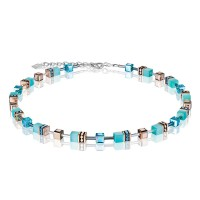 COEUR DE LION Geo Cube Fresh Turquoise Necklace 4016/10-2000