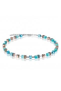 COEUR DE LION Geo Cube Fresh Turquoise Necklace 4016/10-2000