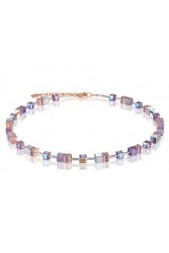 COEUR DE LION  Geo Cube Soft Purple Natural Amethyst Necklace 4017/10-0829