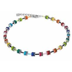 COEUR DE LION Geo Cube Mini Rainbow Colours Necklace  4409/10-1500