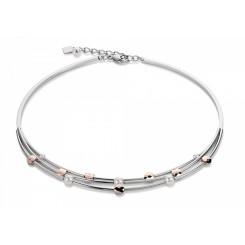 COEUR DE LION Swarovski Pearls Triple Strand Rose Gold Necklace 4761/10-1620