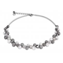 COEUR DE LION Swarovski Howlite Agate White Necklace 4845/10-1214
