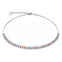 COEUR DE LION  Swarovski, Cut Glass Clear Rainbow Necklace 4858/10-1518
