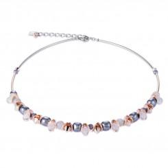 COEUR DE LION Swarovski Hematite Pearls Moonstone Necklace 4863/10-1200