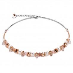 COEUR DE LION Swarovski Pearls Sunstone Necklace 4863/10-1900