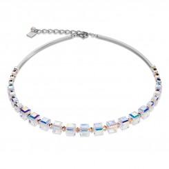 COEUR DE LION Swarovski Crystal Clear Rose Necklace 4883/10-1620