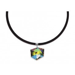 COEUR DE LION Swarovski Cube Pendant Iridescent Multicolour Necklace 4889/10-1500