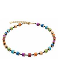 COEUR DE LION  Diamond Cut Aluminium Multi-Coloured Necklace 4892/10-1500 - LIMITED EDITION