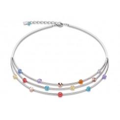 COEUR DE LION Swarovski Rainbow Multi Strand Necklace 4917/10-1522