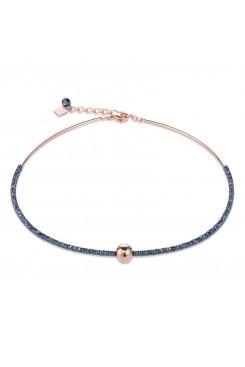 COEUR DE LION Bold Grey Hematite & Rose Gold Necklace 4932/10-1620