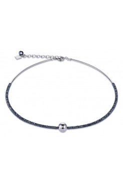 COEUR DE LION Bold Grey Hematite & Silver Necklace 4932/10-1700