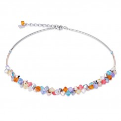 COEUR DE LION Multicolour Crystal & Rose Gold Necklace 4938/10-1522