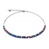 COEUR DE LION Swarovski Bevelled Haematite Multicolour Necklace 4940/10-1500