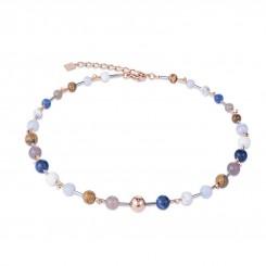COEUR DE LION Natural Stones & Rose Gold Classic Necklace 4949/10-0711