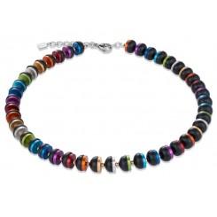 COEUR DE LION Onyx Bright Rainbow & Rose Gold Necklace 4976/10-1500