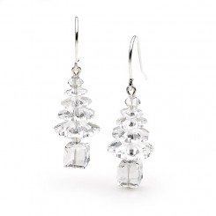 Classic Swarovski Crystal Elements Christmas Tree Earrings