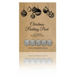 Threepence Coins Christmas Pudding Pack