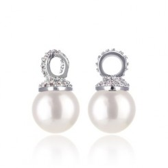 KAGI Silver Pearl Drops Ear Charms