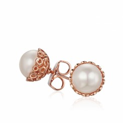 KAGI Rose Champagne Bubbles Studs Earrings