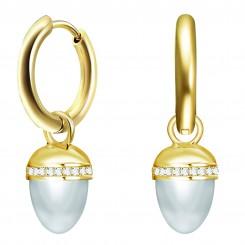 KAGI Silver Acorn Ear Charms