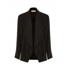 Mela Purdie Tuxedo Jacket - Glitter Stripe Print Mousseline