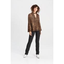 Mela Purdie Slim Pant - Stripe Crepe Double Knit