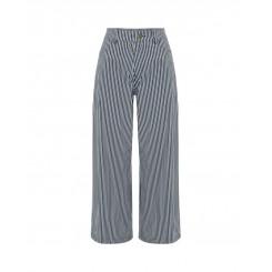 Mela Purdie Wide Leg Jean - Boiler Stripe Microprene - Sale