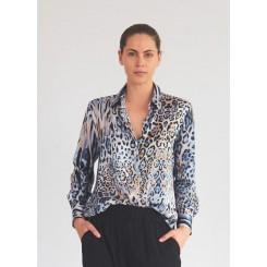 Mela Purdie Soft Shirt - Desert Animal Chiffon Satin Print