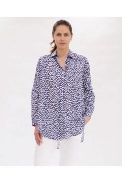 Mela Purdie Limitless Shirt - Indigo Reef Print