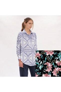 Mela Purdie Roule Overshirt - Juniper Floral Print