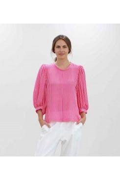 Mela Purdie Frothy Top - Sugar Stripe Silk