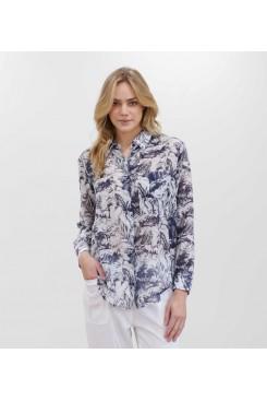 Mela Purdie Single Pocket Shirt - Botanica Silk Print