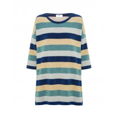 Mela Purdie Aero Sweater - Rainbow Stripe