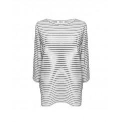 Mela Purdie Split Top - Quay Stripe - Compact Knit