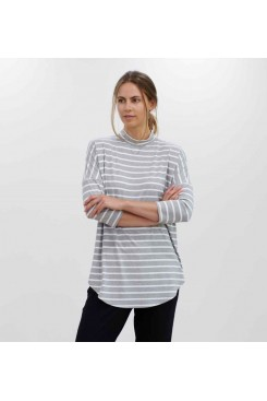 Mela Purdie Crew Neck Sweater - Block Stripe