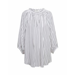 Mela Purdie Escape Blouse - Poets Stripe Mousseline