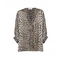 Mela Purdie Verandah T - Snow Leopard Chiffon Satin Print - Sale