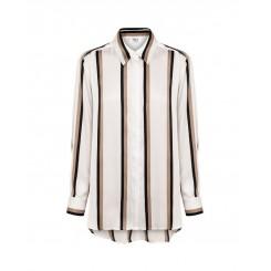 Mela Purdie Soft Shirt - Moulin Stripe Satin