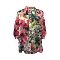 Mela Purdie Soft Verandah Blouse - Monet Floral Chiffon Satin