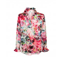 Mela Purdie Valentine Blouse - Monet Floral Chiffon Satin