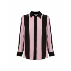 Mela Purdie Soft Shirt - Cabana Stripe Silk - Sale