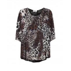 Mela Purdie Plaza T - Safari Swirl Silk Print