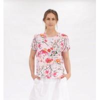 Mela Purdie Cap Shell - Poppy Pink Floral Print - Sale