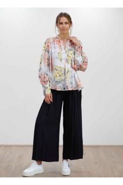 Mela Purdie Saddle Blouse - Shadow Lilly Print