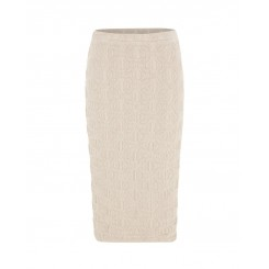 Mela Purdie Pencil Skirt - Macrame Jacquard Knit