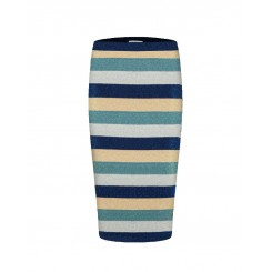 Mela Purdie Pencil Skirt - Rainbow Stripe
