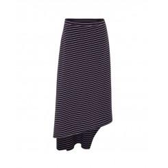Mela Purdie Oblique Skirt - St Barts Stripe Compact Knit - Sale
